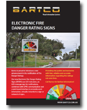 Download Electronic Fire Danger Rating Sign Brochure