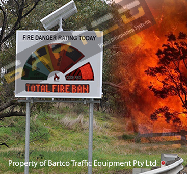 Electronic Fire Danger Rating Signs (EFDRS)