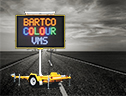 Bartco's Portable 5 Colour VMS - manufacturer of Variable Message Signs, Traffic Signs and Fire Danger Rating Signs.