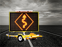 Bartco's Portable Amber VMS - manufacturer of Variable Message Signs, Traffic Signs and Fire Danger Rating Signs.