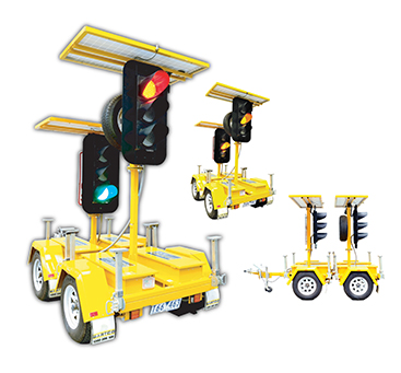 Portable Solar Traffic Lights - Master and Slave